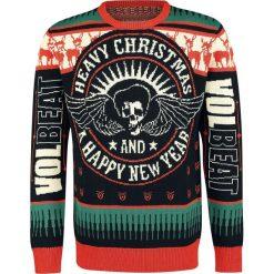 Volbeat Holiday Sweater 2018 Sweter z dzianiny czarny/czerwony. Niebieskie swetry klasyczne męskie marki Cropp, l. Za 224,90 zł.