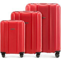 Zestaw walizek 56-3T-73S-30. Czerwone walizki marki Wittchen, duże. Za 722,61 zł.