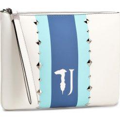 Torebka TRUSSARDI JEANS - Blondie 75B00213  W001. Białe torebki klasyczne damskie Trussardi Jeans, z jeansu. W wyprzedaży za 299,00 zł.