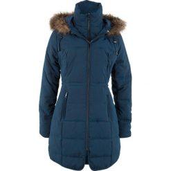 Krótki płaszcz z kapturem bonprix ciemnoniebieski. Szare płaszcze damskie z futerkiem marki bonprix. Za 239,99 zł.