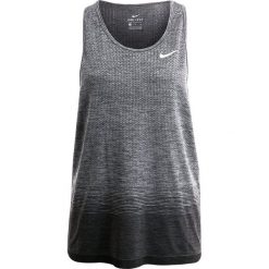 Nike Performance DRIFIT Koszulka sportowa anthracite/wolf grey/dark grey. Szare topy sportowe damskie marki Nike Performance, xl, z materiału. W wyprzedaży za 194,25 zł.
