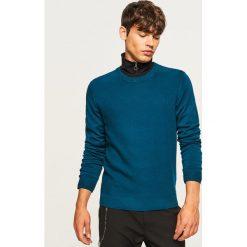 Sweter - Turkusowy. Niebieskie swetry klasyczne męskie marki Reserved, l. Za 119,99 zł.