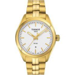 PROMOCJA ZEGAREK TISSOT T - CLASSIC. Białe zegarki męskie TISSOT, ze stali. W wyprzedaży za 1390,40 zł.