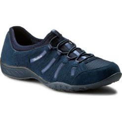 Półbuty SKECHERS - Big Bucks 22478/NVY Navy. Niebieskie półbuty damskie skórzane marki Skechers. W wyprzedaży za 209,00 zł.