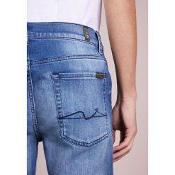 7 for all mankind SLIMMY LUXE PERFORMANCE Jeansy Straight Leg dark blue denim. Niebieskie jeansy męskie regular 7 for all mankind. W wyprzedaży za 371,60 zł.