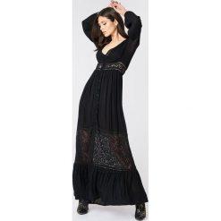Sukienki: Boohoo Koronkowa sukienka maxi – Black