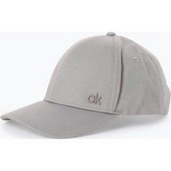 Calvin Klein - Damska czapka z daszkiem, szary. Szare czapki z daszkiem damskie Calvin Klein, z haftami. Za 139,95 zł.
