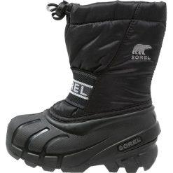Sorel CUB Śniegowce black. Czarne buty zimowe chłopięce Sorel, z materiału. Za 229,00 zł.