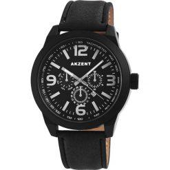 Zegarki męskie: Akzent Black Chronolook Zegarek na rękę czarny