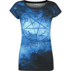 Bluzki asymetryczne: Supernatural Symbols Koszulka damska wielokolorowy