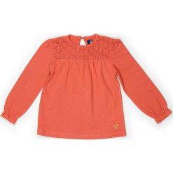 Bluzka w kolorze pomarańczowym. Brązowe bluzki dziewczęce bawełniane Street Monkey, z dekoltem na plecach. W wyprzedaży za 49,95 zł.