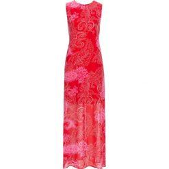 Sukienki: Długa sukienka szyfonowa bonprix truskawkowy paisley