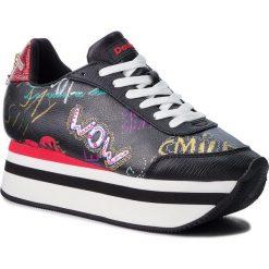 Sneakersy DESIGUAL - Space Bolimania 18WSKP10 2000. Czarne sneakersy damskie Desigual, z materiału. W wyprzedaży za 299,00 zł.