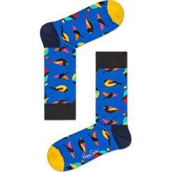 Happy Socks - Skarpety Bird. Niebieskie skarpetki męskie Happy Socks, z bawełny. Za 39,90 zł.