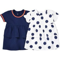 Bluzki dziewczęce: Koszulka z okrągłym dekoltem 1 m-c – 3 lata (dwupak)