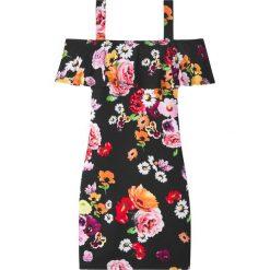 Sukienki dziewczęce: Sukienka z falbaną bonprix czarny w kwiaty