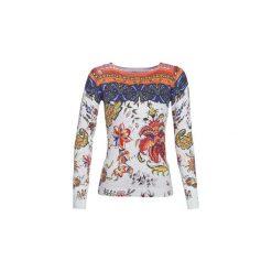 Swetry Desigual  CHINTZ. Szare swetry klasyczne damskie marki Desigual, l, z tkaniny, casualowe, z długim rękawem. Za 349,00 zł.