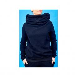 Bluza z kominem i kapturem. Czarne bluzy damskie Awu, l, z bawełny. Za 219,00 zł.
