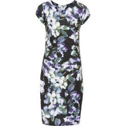 Sukienki: Sukienka bonprix lila-zielony w kwiaty