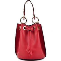 Torebki klasyczne damskie: Skórzana torebka w kolorze czerwonym – (S)20 x (W)17 x (G)16 cm