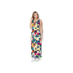 Sukienka CP-025  17. Szare długie sukienki Colour pleasure, s, z dzianiny, na ramiączkach. Za 159,00 zł.