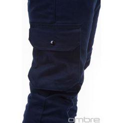 SPODNIE MĘSKIE JOGGERY P388 - GRANATOWE. Niebieskie joggery męskie Ombre Clothing. Za 69,00 zł.