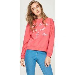 Bluzy rozpinane damskie: Bluza z hasłem - Pomarańczo