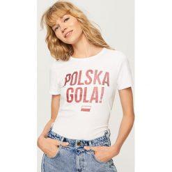T-shirty damskie: T-shirt polska gola – Biały