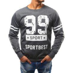 Bluzy męskie: Bluza męska z nadrukiem antracytowa (bx3275)