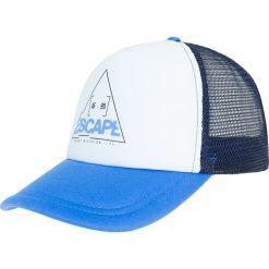 Czapka męska CAM206 - niebieski. Niebieskie czapki z daszkiem męskie 4f, z nadrukiem, z materiału. Za 29,99 zł.