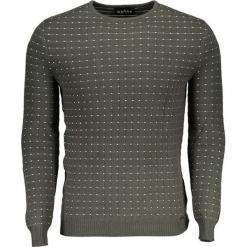 Sweter w kolorze khaki ze wzorem. Niebieskie swetry klasyczne męskie marki Guess, z materiału. W wyprzedaży za 329,95 zł.
