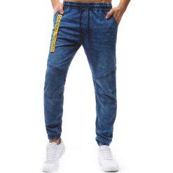 Joggery męskie: Joggery męskie denim look niebieskie (ux1243)