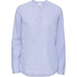 Bluzki damskie: Bluzka bonprix jasnoniebiesko-biały w kropki