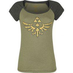 The Legend Of Zelda Triforce Koszulka damska ciemnoszary melanż/szary melanż. Szare bluzki nietoperze The Legend Of Zelda, s, melanż, z dekoltem w łódkę. Za 79,90 zł.