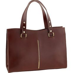 Torebki klasyczne damskie: Skórzana torebka w kolorze brązowym – 36 x 27 x 14 cm