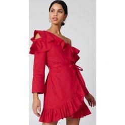 Sukienki hiszpanki: Hot & Delicious Sukienka z wycięciami na ramionach – Red