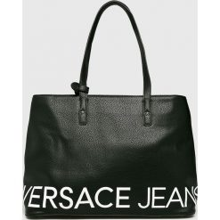 Versace Jeans - Torebka. Czarne torebki klasyczne damskie Versace Jeans, z jeansu. Za 699,90 zł.