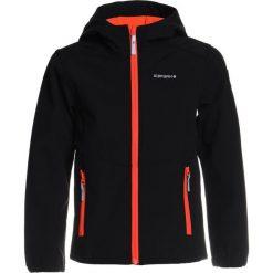 Icepeak TEIKO  Kurtka Softshell black. Czarne kurtki chłopięce przeciwdeszczowe Icepeak, z elastanu, sportowe. Za 169,00 zł.