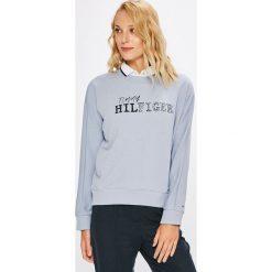 Tommy Hilfiger - Bluza Eline. Szare bluzy z nadrukiem damskie marki TOMMY HILFIGER, l, z bawełny, bez kaptura. W wyprzedaży za 319,90 zł.