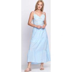 Jasnoniebieska Sukienka Warrior of Light. Niebieskie sukienki letnie marki Born2be, s. Za 44,99 zł.