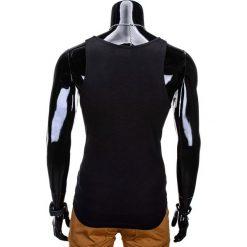 BOKSERKA MĘSKA Z NADRUKIEM S805 - CZARNA. Czarne t-shirty męskie z nadrukiem marki Ombre Clothing, m. Za 29,00 zł.