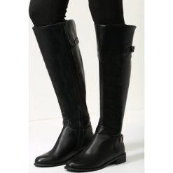 Buty zimowe damskie: Czarne Kozaki Your Shoes
