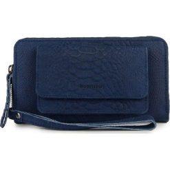 Portfele damskie: Skórzany portfel w kolorze granatowym – 20,5 x 11 x 2 cm
