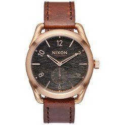 Zegarki damskie: Zegarek damski Rose Gold Brown Nixon C39 Leather A4591890