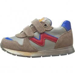 """Sneakersy """"Bomba"""" w kolorze szarym. Szare trampki chłopięce Naturino, z aplikacjami, z materiału. W wyprzedaży za 195,95 zł."""