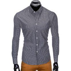 Koszule męskie: KOSZULA MĘSKA Z DŁUGIM RĘKAWEM K426 – CZARNA/BIAŁA