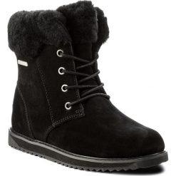 Śniegowce EMU AUSTRALIA - Shoreline Lo W11750 Black. Czarne buty zimowe damskie marki EMU Australia, ze skóry. Za 859,00 zł.
