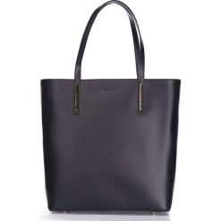 """Torebki klasyczne damskie: Skórzana torebka """"Diego"""" w kolorze czarnym – 31,5 x 34 x 12,5 cm"""