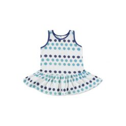Sukienki niemowlęce: anna & tom Mini Girls Jean Sukienka w kropki kolor niebieski