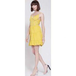 Sukienki: Żółta Sukienka The Babylone Zone